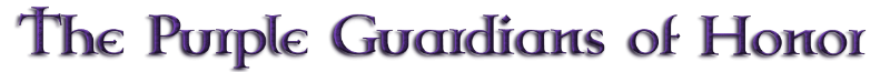 The Purple Guardians of Honor Logo